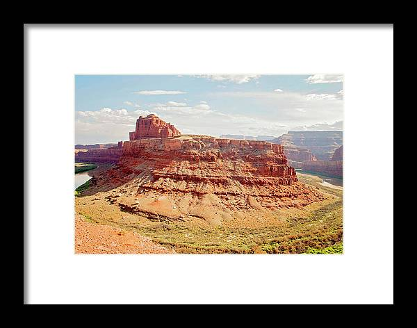 Canyonlands Framed Print featuring the photograph Colorado River View by Chelsea Burnett