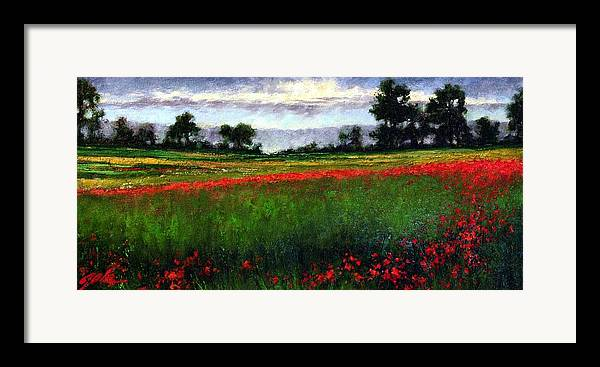 Landscape Framed Print featuring the painting Colorburst by Jim Gola
