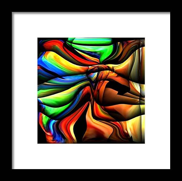 Colorful Framed Print featuring the digital art Colorful Abstract1 by Teo Alfonso