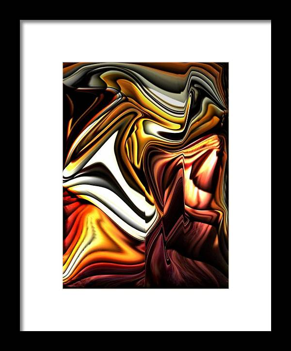Beautiful Framed Print featuring the digital art Colorful Abstract13 by Teo Alfonso