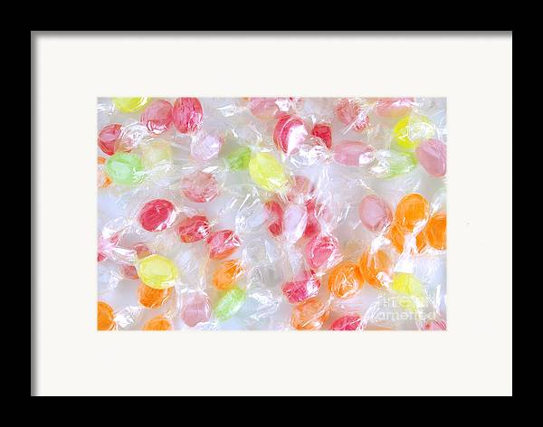 Assorted Framed Print featuring the photograph Colorful Candies by Carlos Caetano