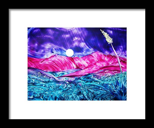 Bold Framed Print featuring the print Colorful Desert by Melinda Etzold