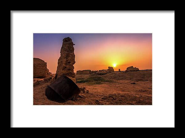 Scenery Framed Print featuring the photograph Colorful Evening In The Ruined World.. by Azfar Rahman