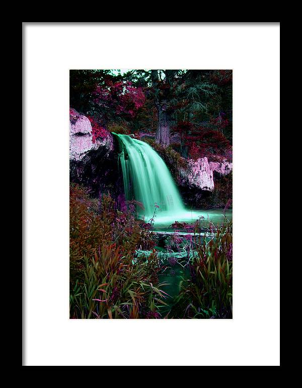 Water Falls Framed Print featuring the photograph Colorful Fall by Clinton Nelson