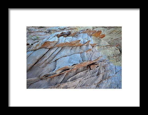 Valley Of Fire State Park Framed Print featuring the photograph Colorful Fins Of Sandstone In Valley Of Fire by Ray Mathis