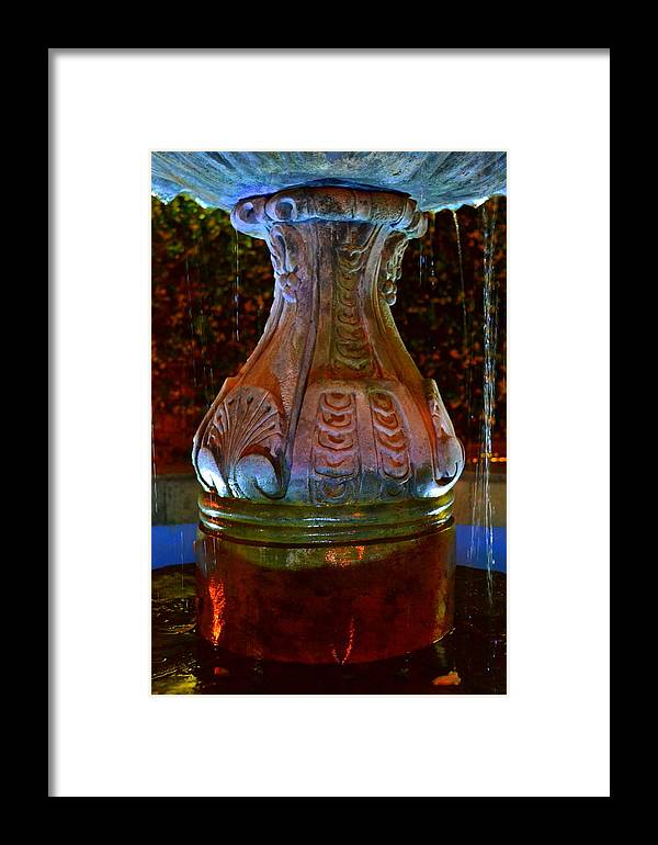Color Framed Print featuring the photograph Colorful Fountain by Lyndi Heckaman