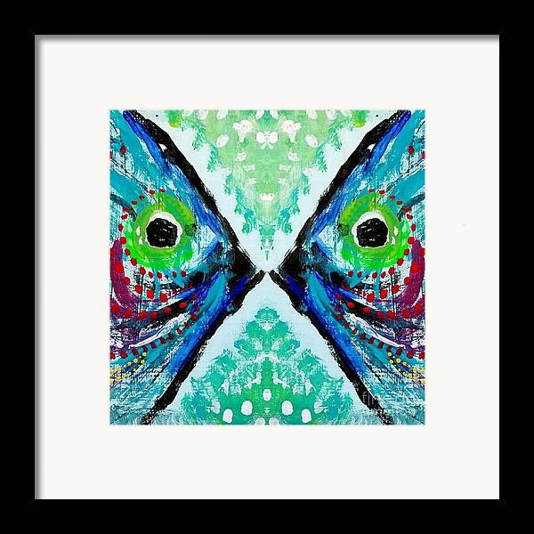 Colorful Kissing Fish Framed Print By Scott D Van Osdol