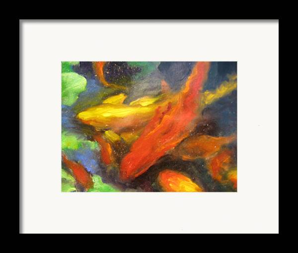 Koi Framed Print featuring the painting Colorful Koi by Susan Jenkins