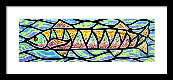 Fish Framed Print featuring the painting Colorful Longfish by Jim Harris
