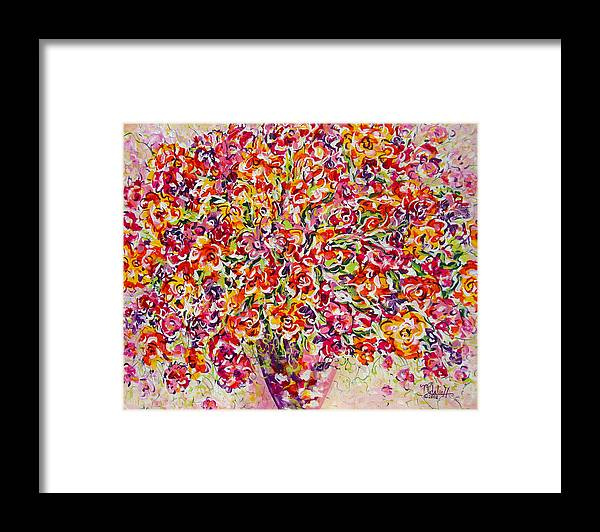 Framed Prints Framed Print featuring the painting Colorful Organza by Natalie Holland