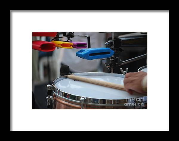 Music Framed Print featuring the photograph Colorful Percussion by Heather Kirk