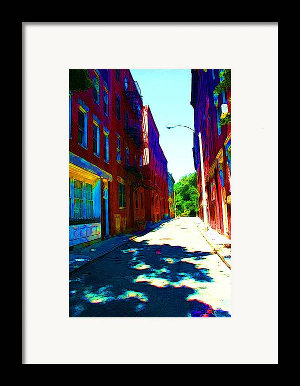 Street Framed Print featuring the photograph Colorful Place To Live by Julie Lueders