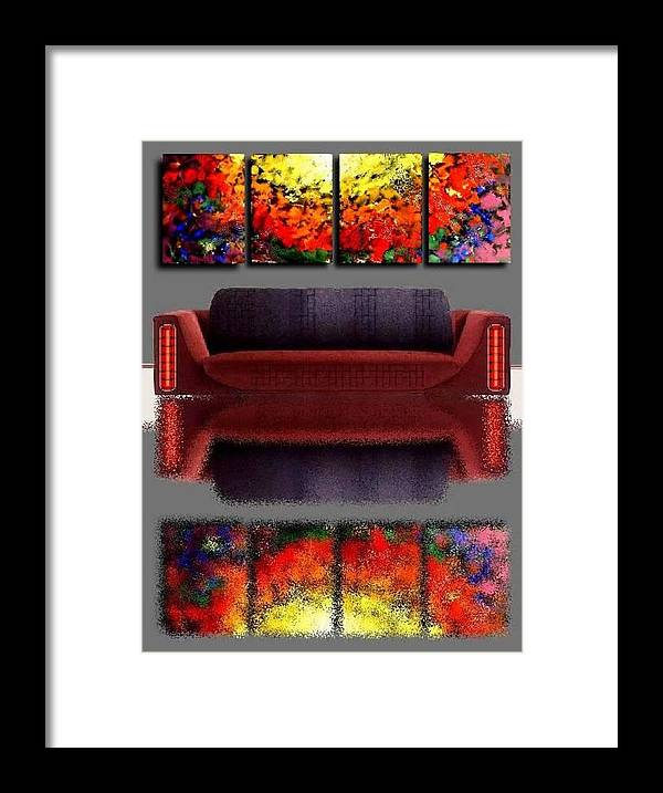 Colorful Framed Print featuring the painting Colorful Reflections by Teo Alfonso
