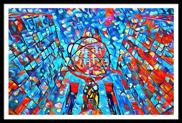 Colorful Rockefeller Center Atlas by Dan Sproul