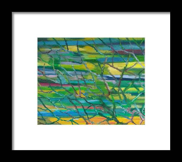 Roots Framed Print featuring the painting Colorful Roots by Suma GV