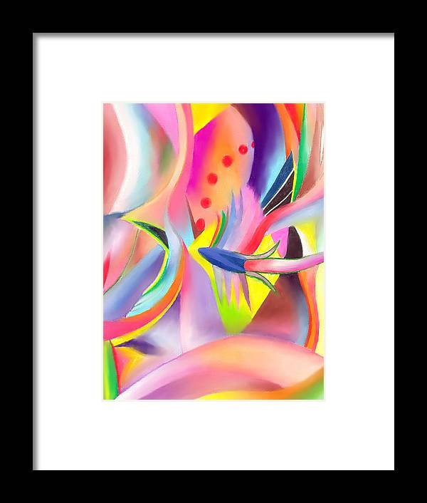 Colorful Framed Print featuring the drawing Colorful Sea by Peter Shor
