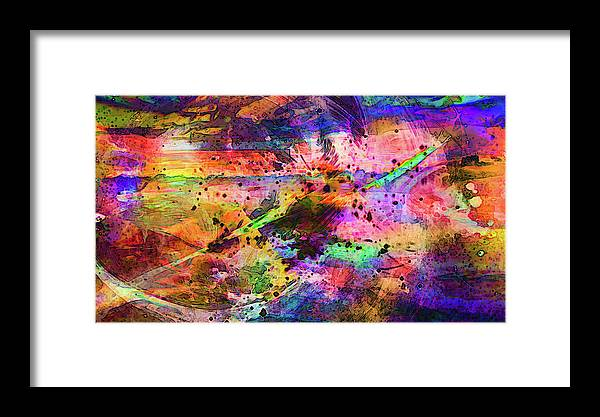 World's Framed Print featuring the digital art Colorful Sunset Debris by Ron Fleishman