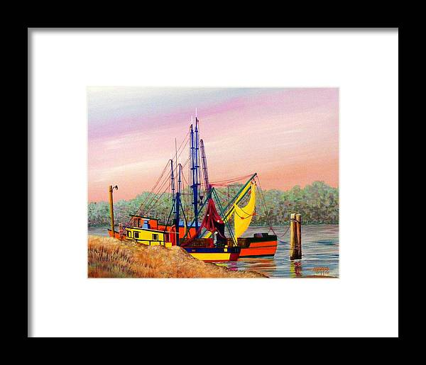 Landscape Framed Print featuring the painting Colorful Tribute by Hugh Harris