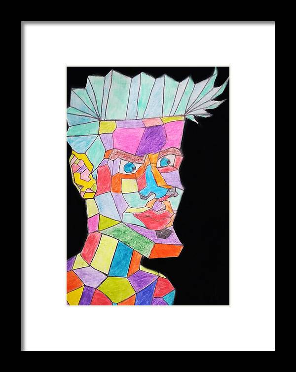 Framed Print featuring the drawing Colors by Abdelrhman Abolmagd