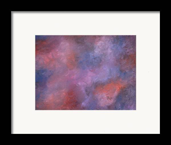 Abstract Art Framed Print featuring the painting Colors by Guillermo Mason