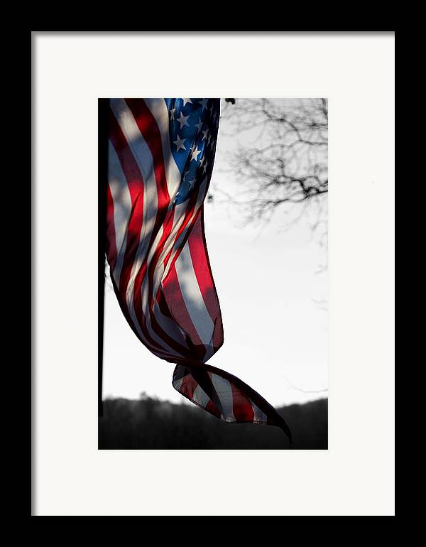 Flag Framed Print featuring the photograph Colors In The Wind by Lisa Johnston