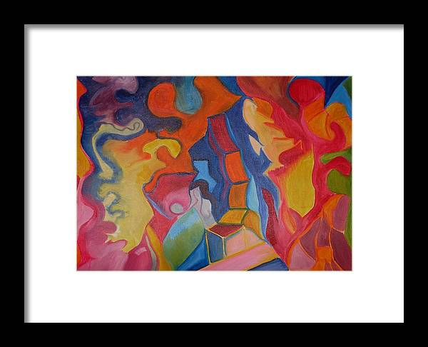 Framed Print featuring the painting Colors by Joseph Arico