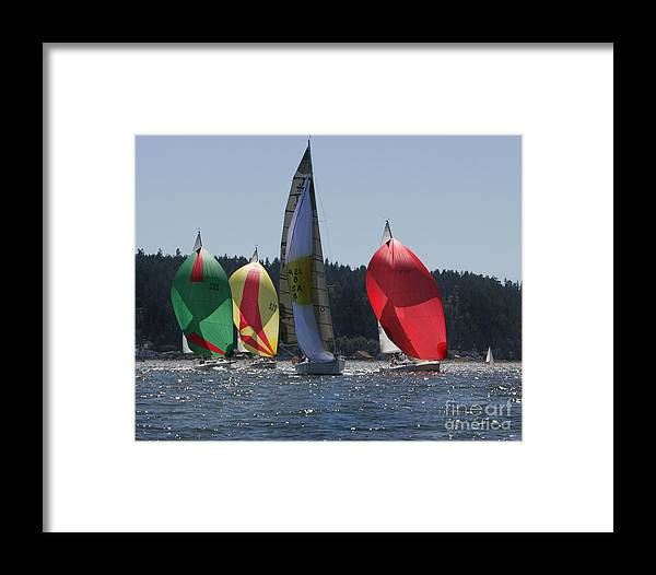Sailboat Framed Print featuring the photograph Colors Of Coupeville by Sandy Byers