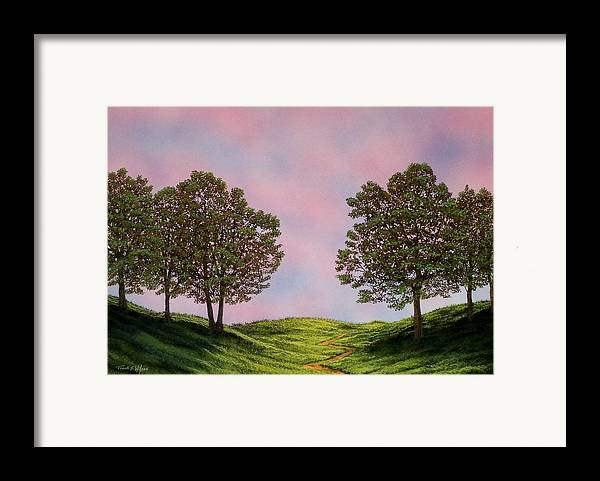 Landscape Framed Print featuring the painting Colors Of Dawn by Frank Wilson