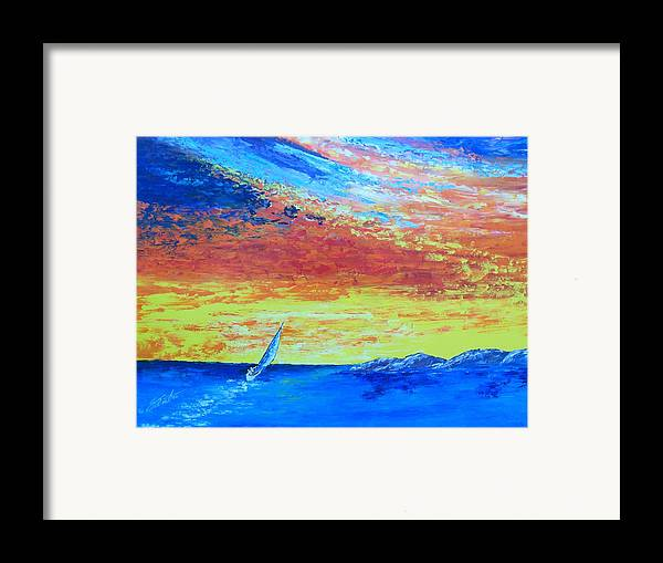 Landscape Framed Print featuring the painting Colors Of Florida by Dennis Vebert