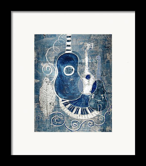 Violin Framed Print featuring the painting Colors Of Music 6 by Aliza Souleyeva-Alexander