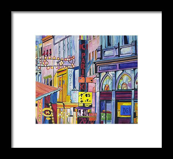 Cityscape Framed Print featuring the painting Colors of Paris by Patricia Arroyo