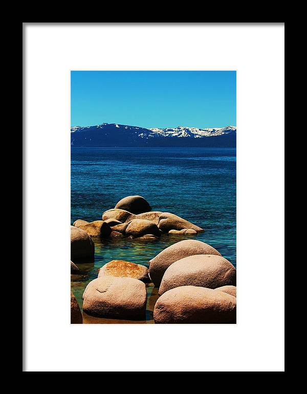 Water Framed Print featuring the photograph Colors Of Sand Harbor by Russell Barton