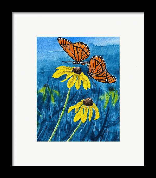 Animals Framed Print featuring the painting Colors Of Spring by Wade Clark