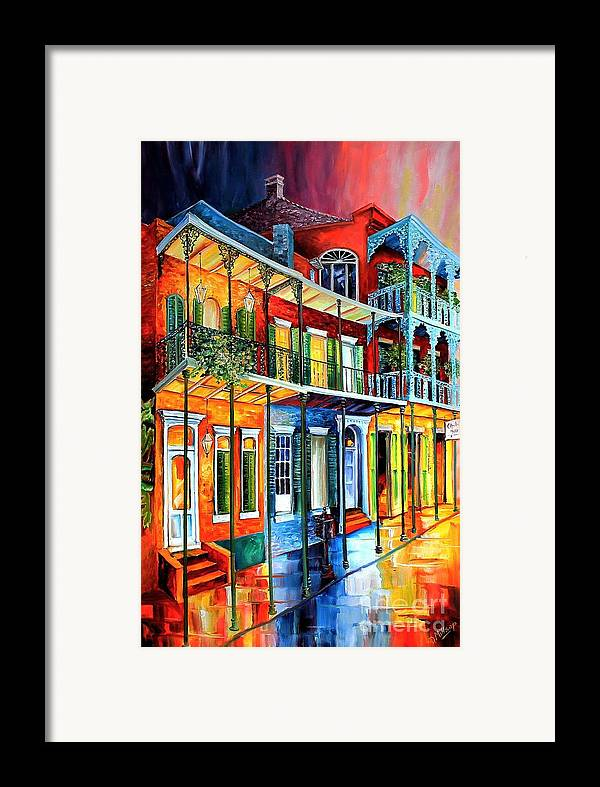 Colors of the french quarter framed print by diane millsap New orleans paint colors