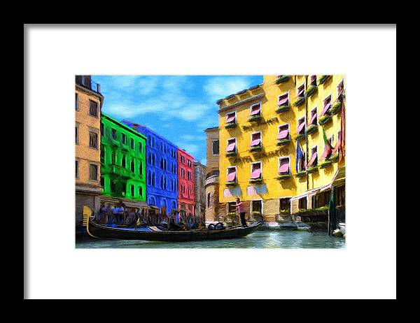 Color Framed Print featuring the painting Colors of Venice by Jeffrey Kolker