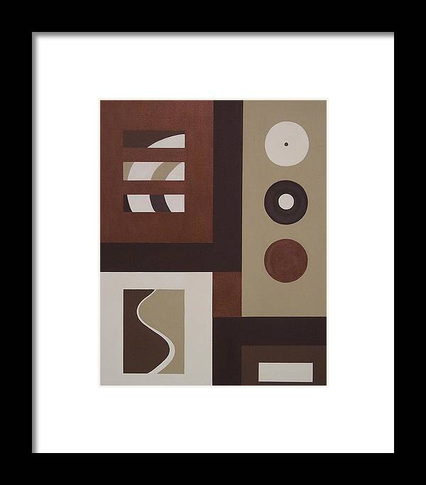 Squares Framed Print featuring the painting Colors Without Purpose 1 by Sandy Bostelman