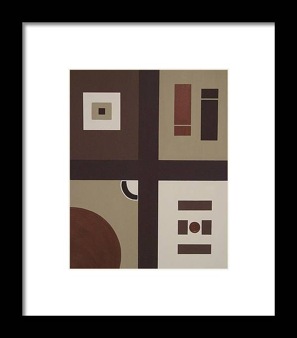 Earthtones Framed Print featuring the painting Colors Without Purpose 2 by Sandy Bostelman