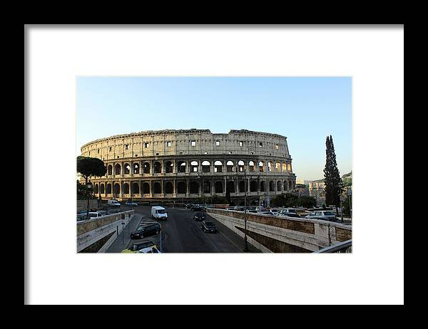 Colosseum Framed Print featuring the photograph colosseum - Rome by Munir Alawi