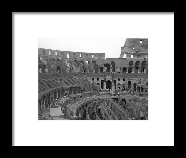 Rome Framed Print featuring the photograph Colosseum Interior by Shelby Eagleburger