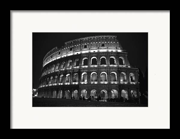 Italy Framed Print featuring the photograph Colosseum by Kathy Schumann