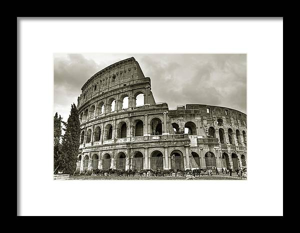 Colosseum Framed Print featuring the photograph Colosseum Rome by Joana Kruse