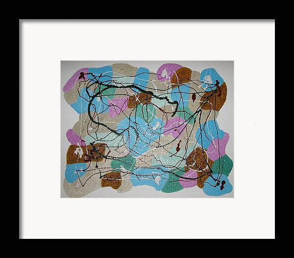 Shapes Framed Print featuring the mixed media Colour And Shapes No 3 by Harris Gulko