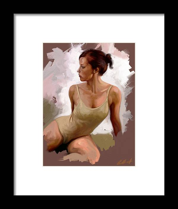 Figurative Framed Print featuring the digital art Colour Study 1 by Stuart Gilbert