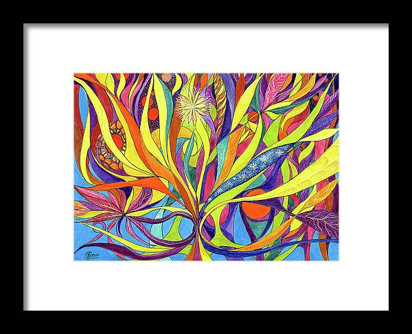 Colourful Framed Print featuring the painting Colourful 2009 by Charles Cater