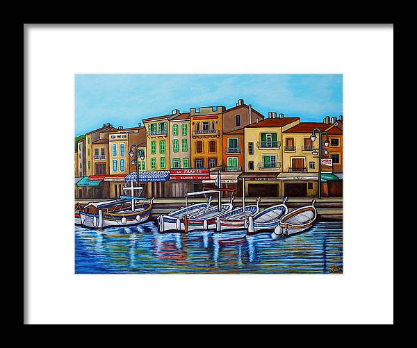 Cassis Framed Print featuring the painting Colours of Cassis by Lisa Lorenz