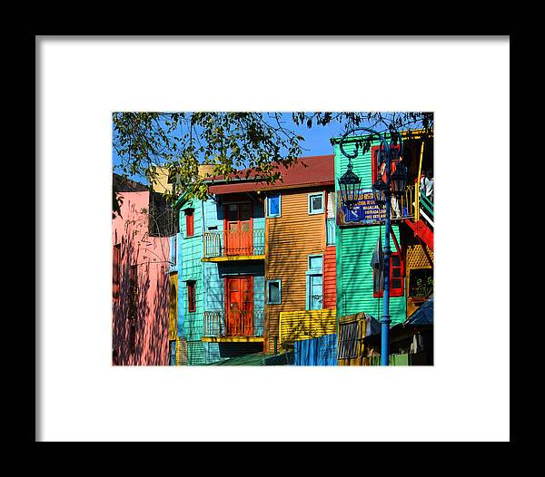 Buenos Aires Framed Print featuring the photograph Colours Of La Boca by Hans Wolfgang Muller Leg