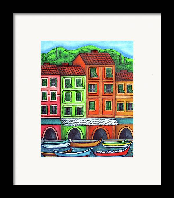 Italy Framed Print featuring the painting Colours Of Liguria by Lisa Lorenz