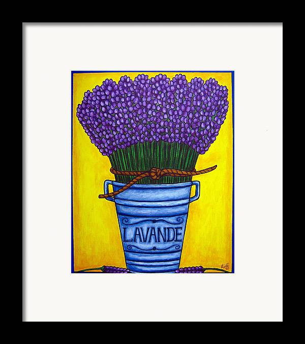 Antique Framed Print featuring the painting Colours Of Provence by Lisa Lorenz