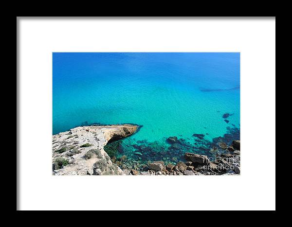Sea Framed Print featuring the photograph Colours Of The Sea by Carl Whitfield