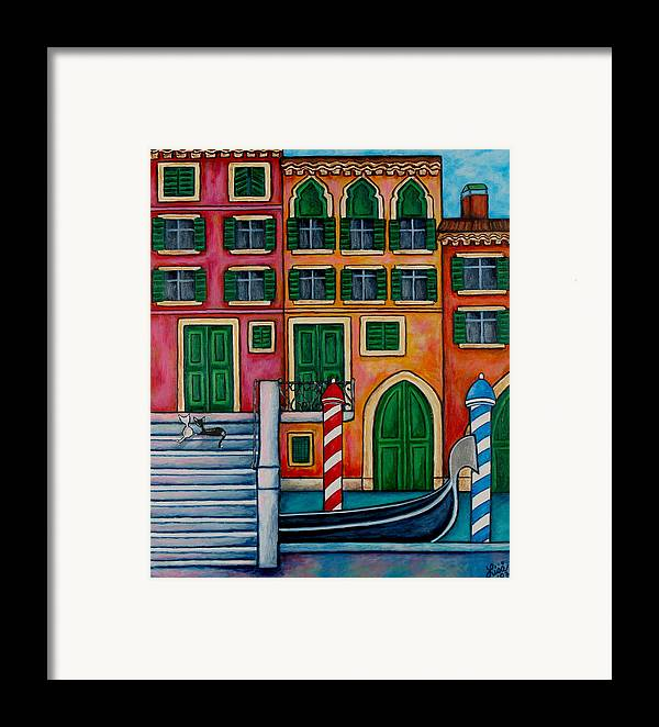 Venice Framed Print featuring the painting Colours Of Venice by Lisa Lorenz